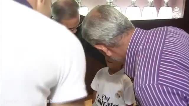 استقبال رئیس باشگاه رئال مادرید از پناهجوی سوری