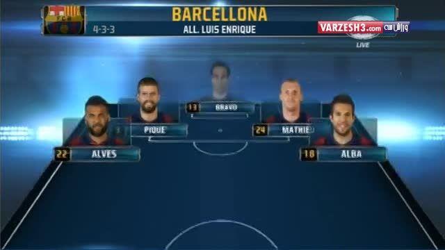 ترکیب بازیکنان بارسلونا و رئال مادرید در ال کلاسیکو
