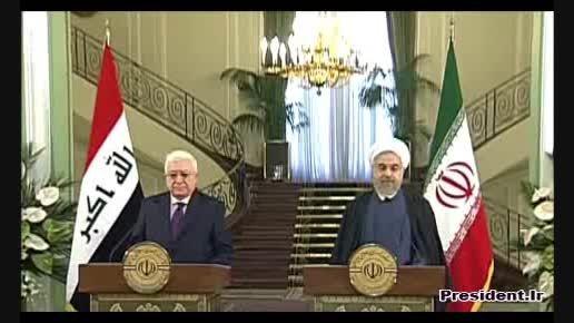 نشست دکتر روحانی با رییس جمهور عراق