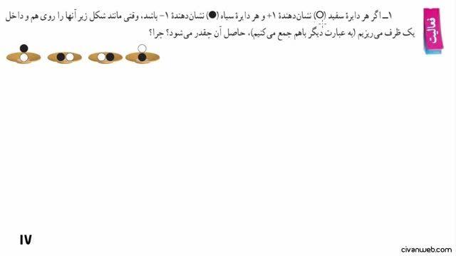 حل فعالیت 1 و 2 صفحه 17 کتاب ریاضی پایه هفتم