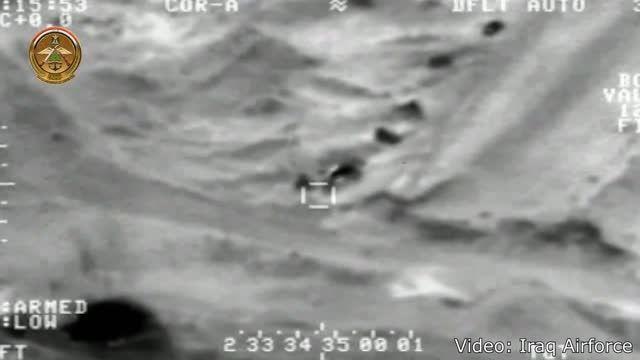 جدیدترین عملیات نیروی هوایی عراق برعلیه داعش