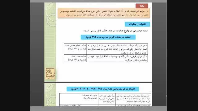 نمونه کلاس مجازی - حقوق جزا