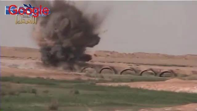 منفجر شدن ماشین داعشی های حروزاده