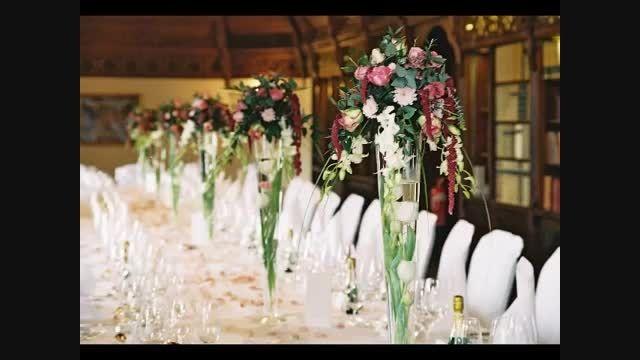 تزئین خانه برای عروس و داماد با گل های زیبا
