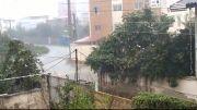 باران فوق شدید باران - قائمشهر - مهر 93