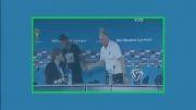 بغل کردن اسکولاری توسط نیمار در کنفرانس خبری