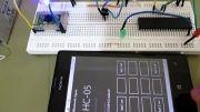 کنترل led با گوشی توسط ماژول بلوتوث HC-05