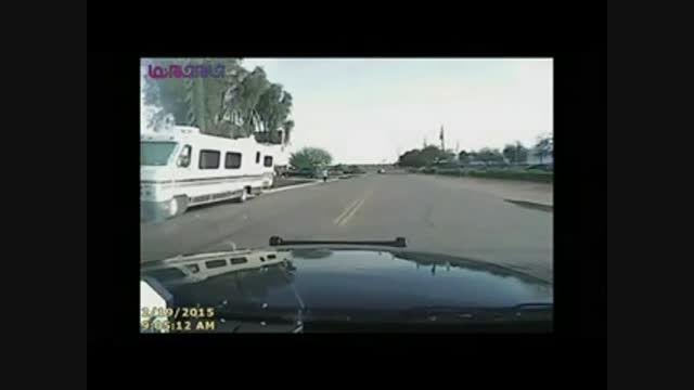 وحشیانه ترین روش دستگیری یک متهم-پلیس آمریکا+فیلم کلیپ