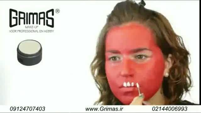آموزش گریم کودک جمجمه قرمز