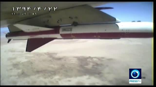 اولین تصویر از شلیک موشک کروز نصر هواپایه از جنگنده HD
