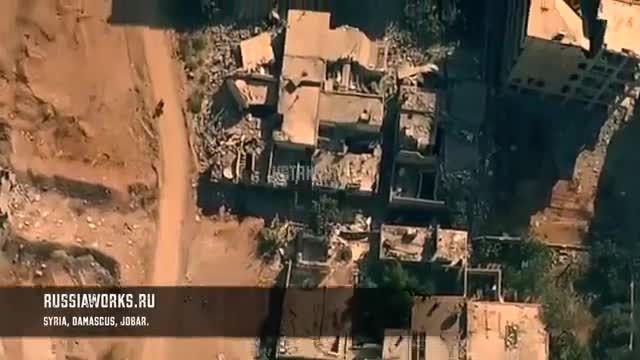 تصاویر هوایی از حمله ارتش سوریه به مواضع تروریست