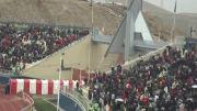 سینه زنی طرفداران تراختور در ورزشگاه یادگار امام