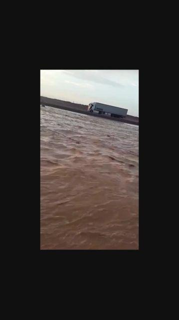 سیلاب محور فهرج ـ زاهدان