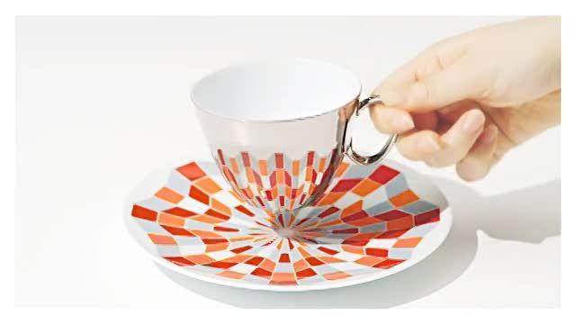 آینه فنجان قهوه (بازتاب الگو)