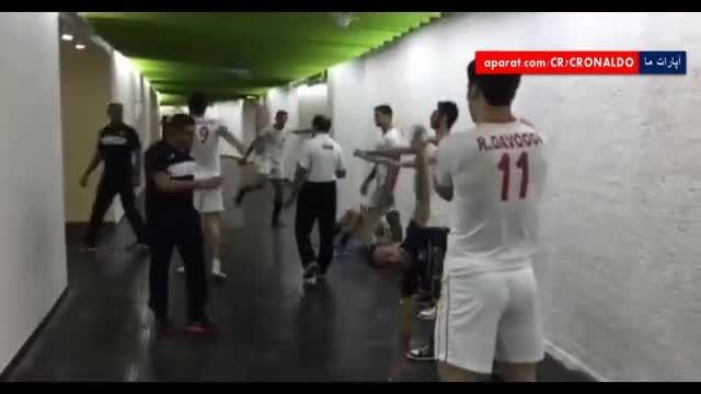 آمادگی والیبالیست های ایرانی قبل از بازی با تایلند
