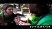 خوردن آبجو از طریق گوش