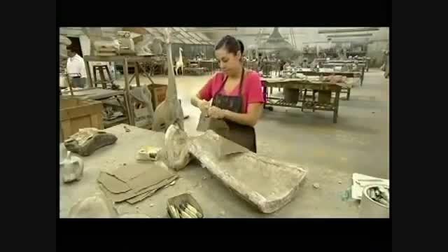 روند تولید مجسمه های دکوری حیوانات(عالیه)