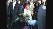حضور رهبر انقلاب و سخنرانی در گلزار شهدای هویزه