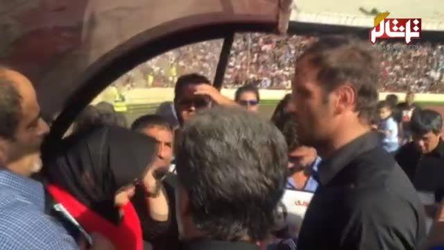 دلداری همسر هادی نوروزی به بازیکنان پرسپولیس