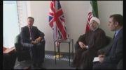 دیدار روحانی با نخست وزیر انگلیس و پاسخ وی در جمع سران