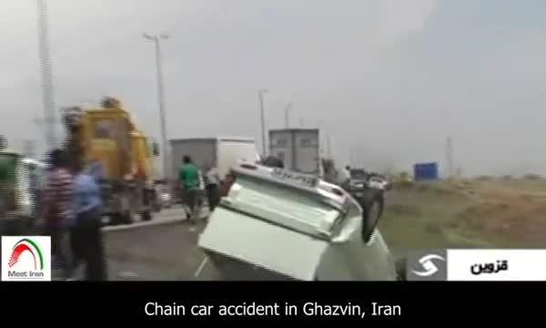 تصادف در محور قزوین