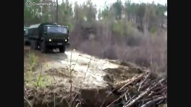 حرکت کامیون پر قدرت روسی