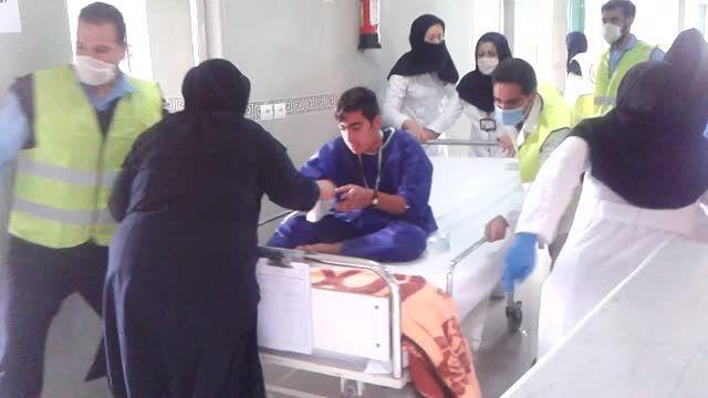 مانور آتش سوزی و تخلیه بیمارستان شهید مطهری مرودشت فارس