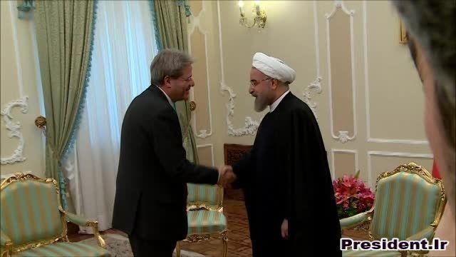 دیدار دکتر روحانی و وزیر خارجه ایتالیا