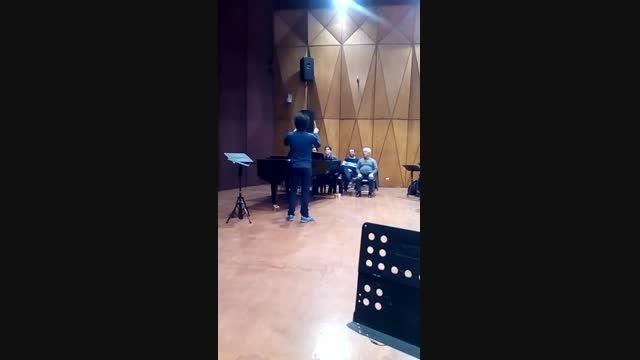 اولین مستر کلاس رهبری ارکستر سمفونیک تهران- رضا احمدی
