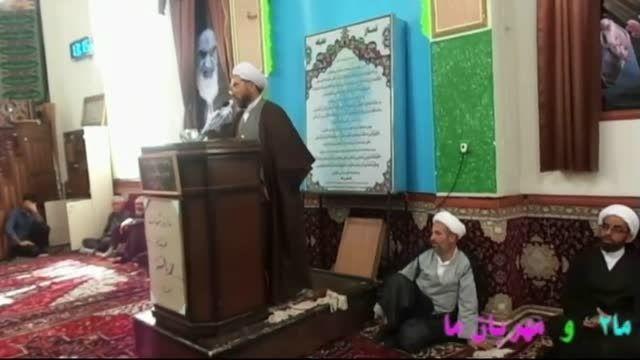 قرائت حکم امام جمعه مهربان توسط حاج آقا تقی زاده