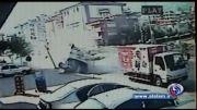 صحنه واژگون شدن اتوبوس گردشگران در ترکیه