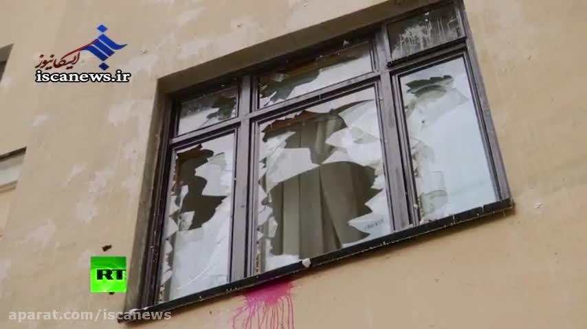 حمله معترضان به سفارت ترکیه در مسکو