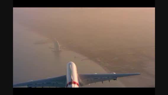 حرکات خطرناک دیدنی در آسمان نزدیک هواپیمای ایرباس