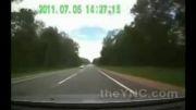 مرگ دلخراش گوزن، تصادف با دو ماشین