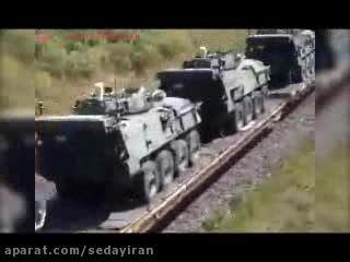 یک لشکر ارتش روسیه سوار بر یک قطار در سوریه