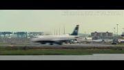 ساعت پر ترافیک فرودگاه برای تیک آف