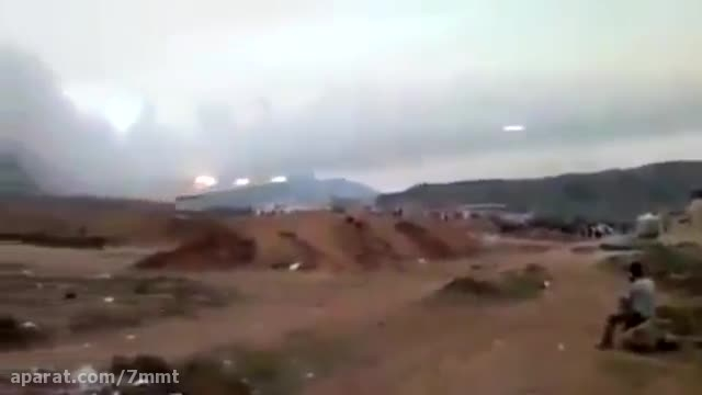 حمله ی راکتی به مواضع تروریست ها - سوریه
