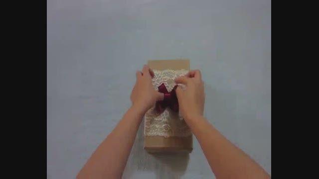 جعبه کادو با تزئین خلاقانه
