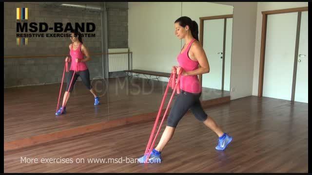 تمرین شماره 5- جهت تقویت عضلات پا