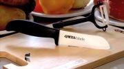چاقوی سرامیکی سرآشپز گینزا بلید به همراه پوست کن سرامیکی