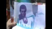 آتش زدن پرچم ایران وحزب الله توسط مخالفین بشار اسد(1)
