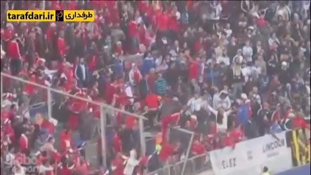 درگیری میان هواداران شیلی و خانواده مسی در جریان فینال
