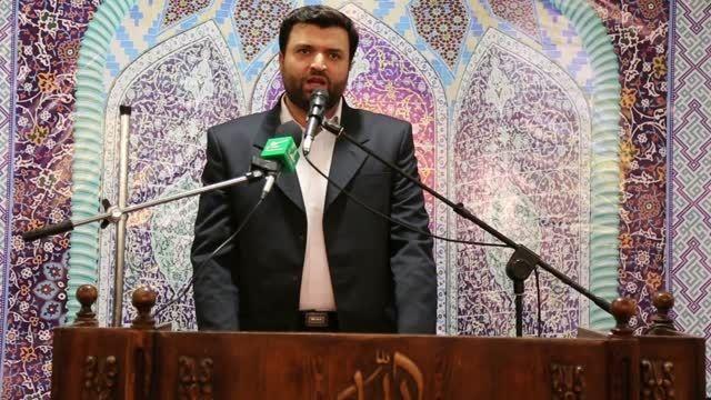 سخنرانی فرمانده ناحیه عمار یاسر در نماز جمعه غرب تهران