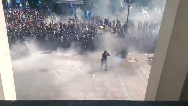 شلیک مرگبار توپ به بدن مرد