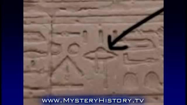 موجودات فضایی در سنگ نگاره های مصر باستان جنجالی