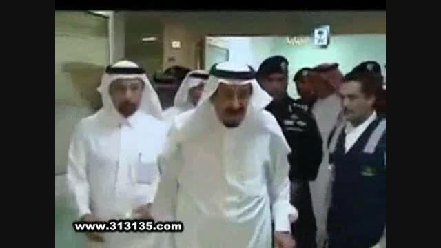 عیادت پادشاه عربستان از مجروح ایرانی