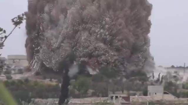 انفجار یک ساختمان دولتی سوریه توسط ارتش آزاد