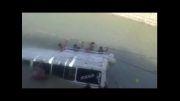 سقوط مینی بوس در دریاچه کارون 3