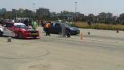 درگ BMW E36 و پانامرا توربو تقویتی(صدای وحشتناک BMW(
