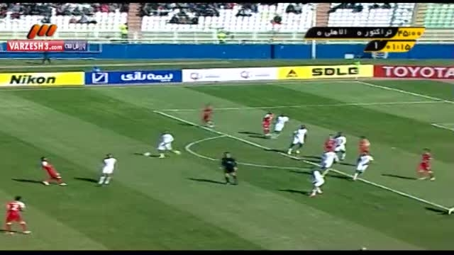 خلاصه بازی برگشت تراکتورسازی 2 - 2 الاهلی عربستان
